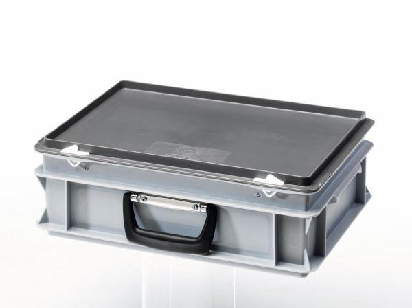 Aufbewahrungskoffer, aus Kunststoff mit Tragegriff (400x300x133 mm)