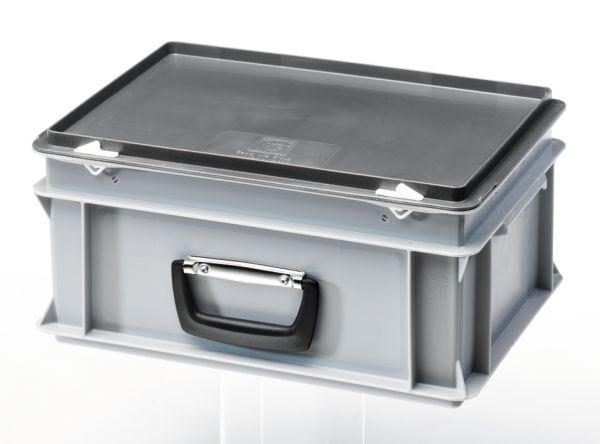 Aufbewahrungskoffer, aus Kunststoff mit Tragegriff (400x300x183 mm)